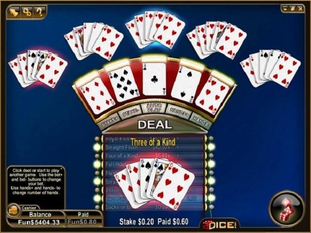 All American Video Poker Multihand