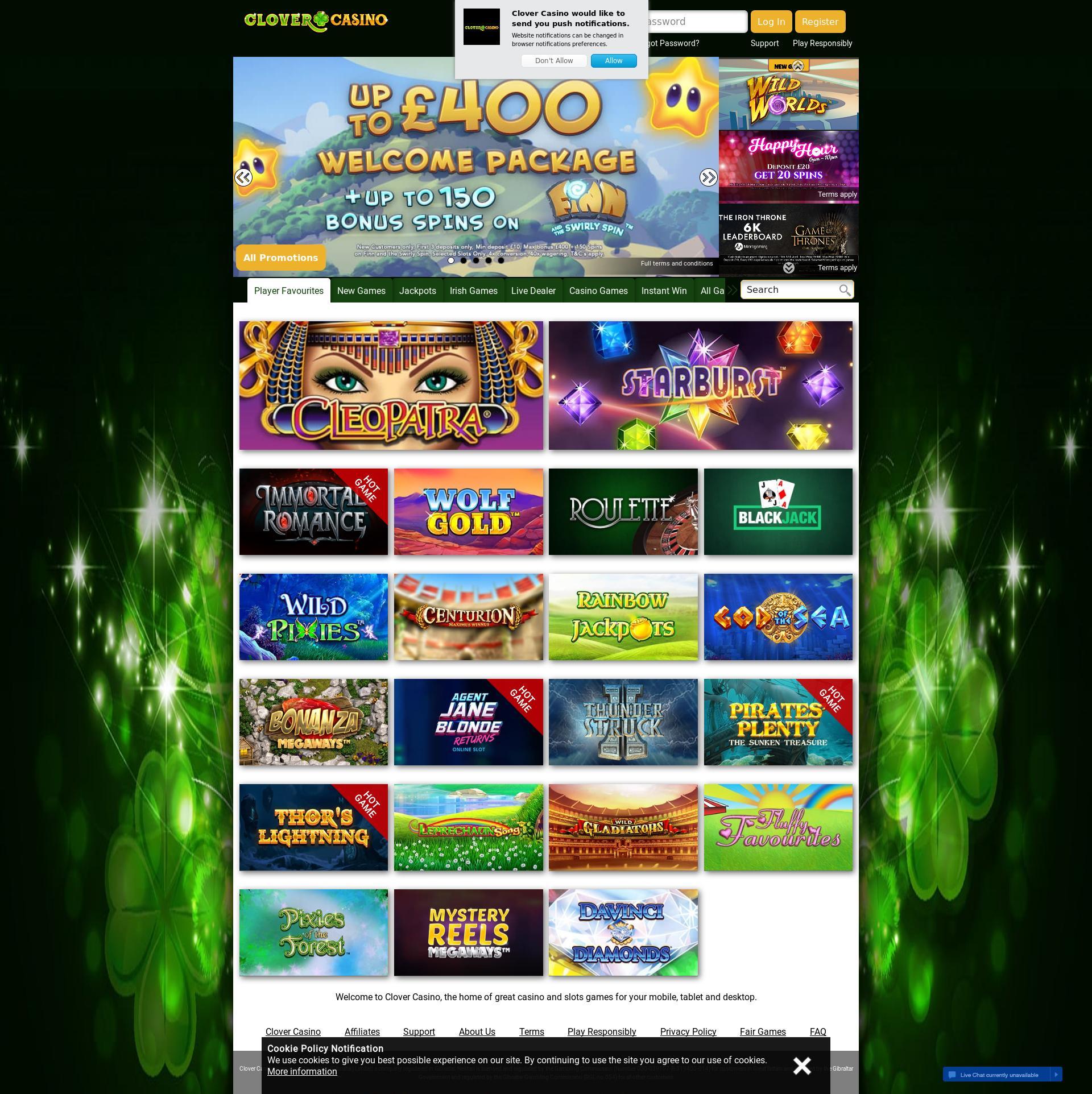 Clover Casino Main