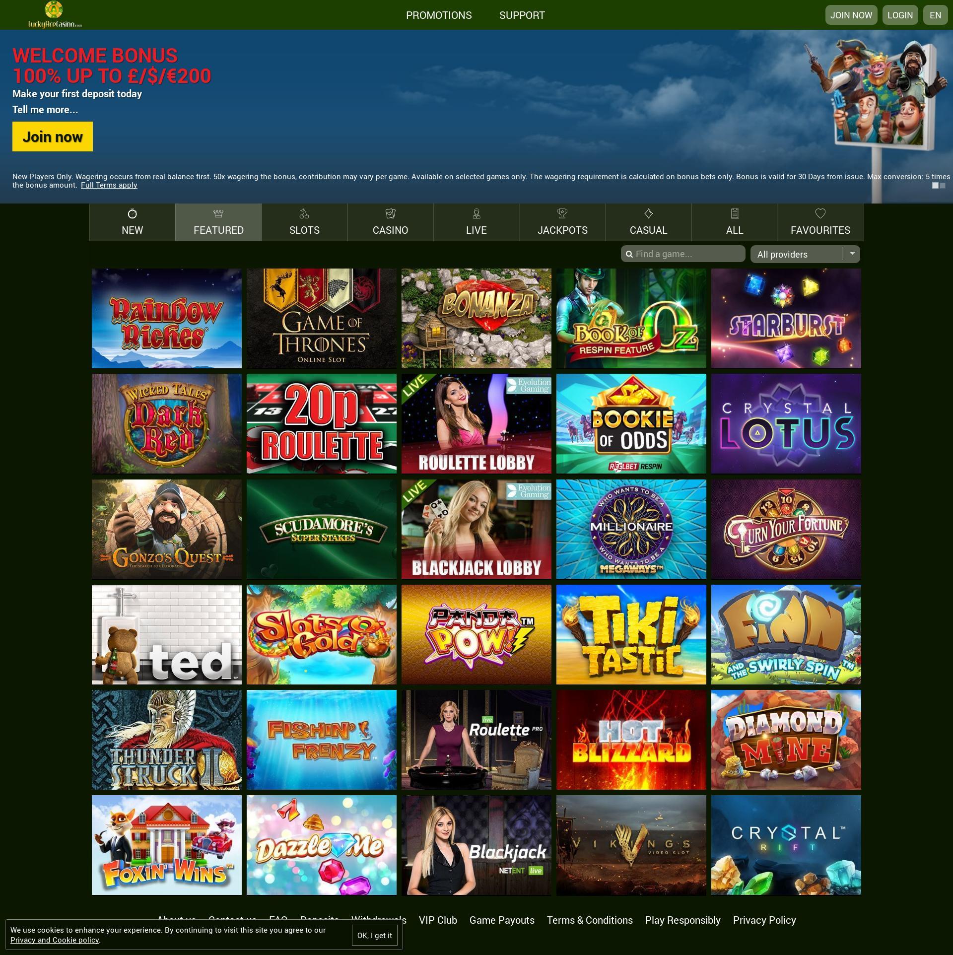 Lucky Ace Casino games