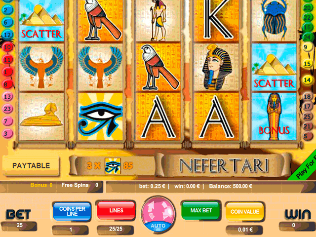Slot machine nefertari