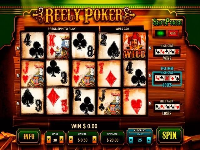 Play Reely Poker Online
