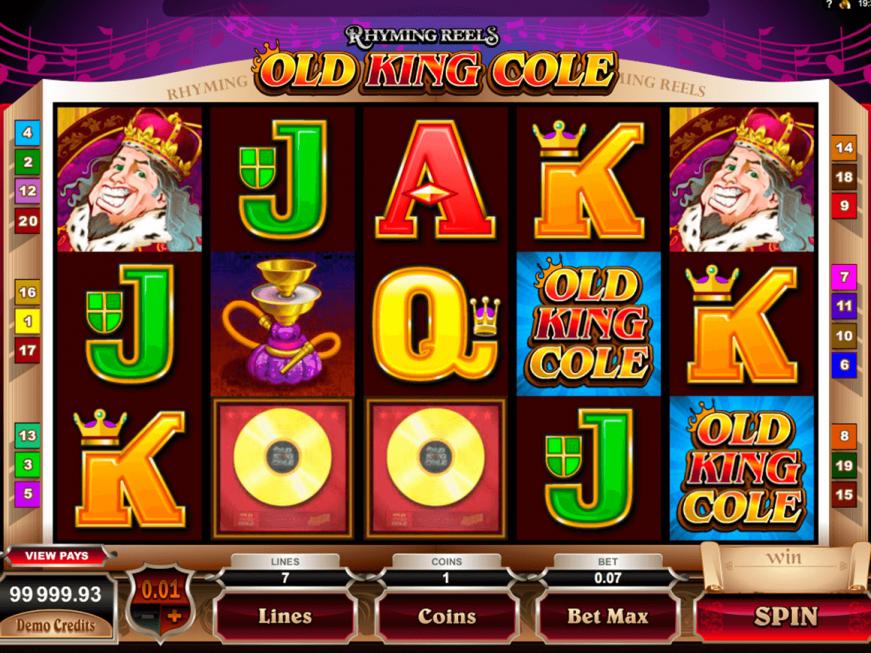 Rhyming Reels Old King Cole slot