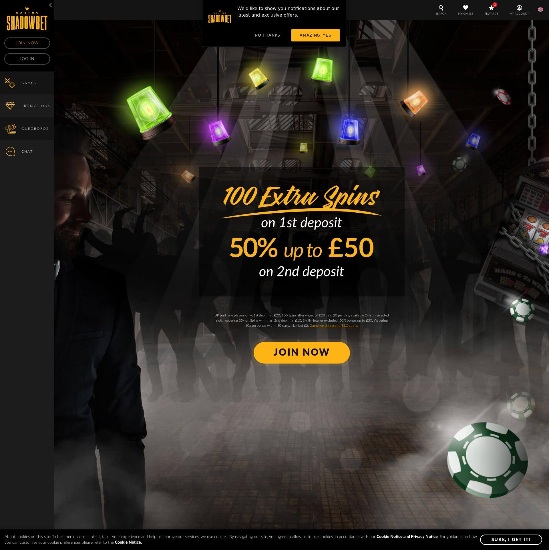 Shadowbet Casino Bonus