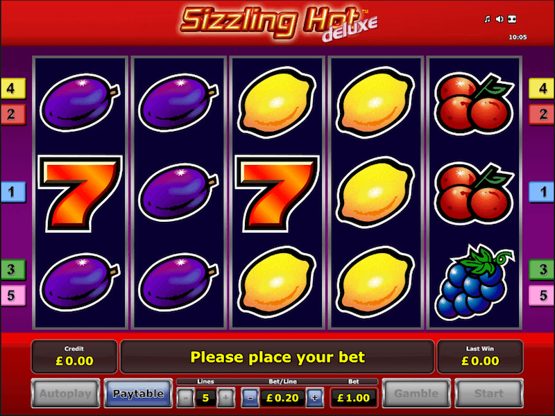 Play Sizzling Hot Slot
