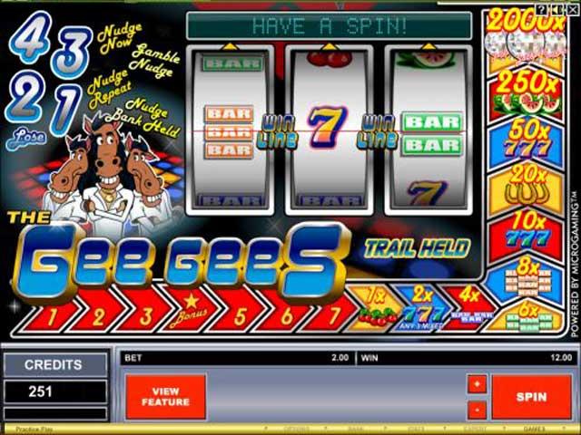 The gee gees slot machine trump casino of hammond