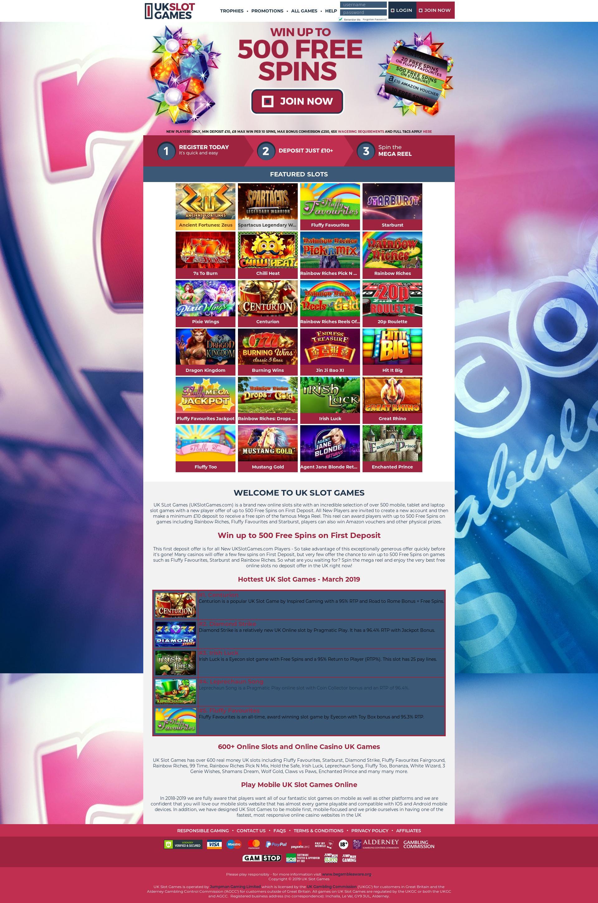 UK Slot Games Main