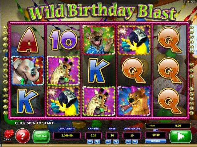 Wild Birthday Blast Slot Machine