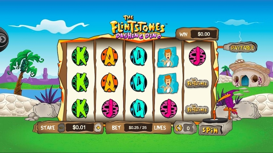 Flintstones Dashing Dino Slot