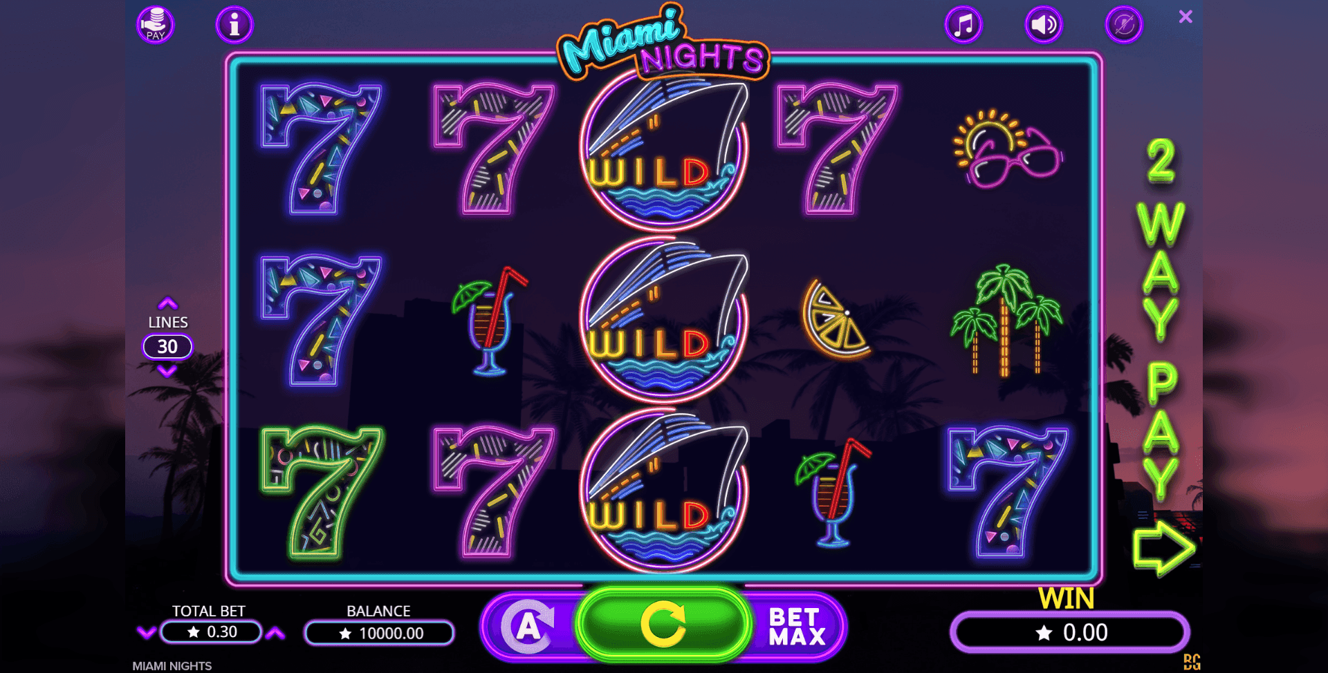 Miami Nights by Booming Games
